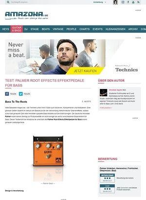 Amazona.de Test: Palmer Root Effects Effektpedale für Bass