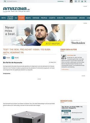 Amazona.de Test: the box, pro Achat 110MA / 112 SUBA Aktiv, Kompakt PA