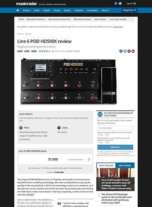 MusicRadar.com Line 6 POD HD500X