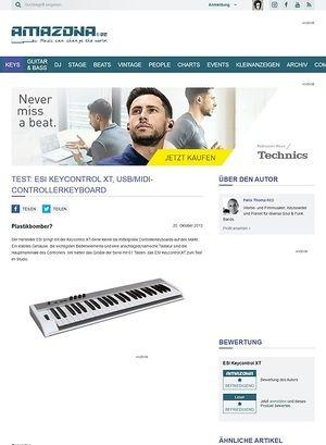 Amazona.de Test: ESI Keycontrol XT, USB/MIDI-Controllerkeyboard