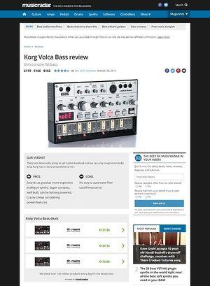 MusicRadar.com Korg Volca Bass