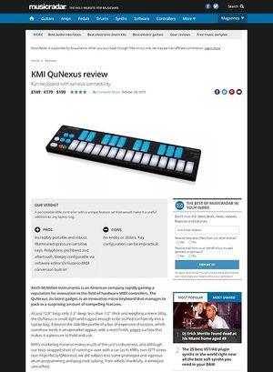 MusicRadar.com KMI QuNexus