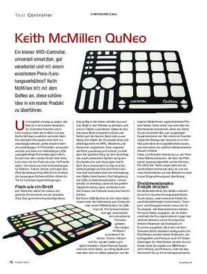 KEYS Keith McMillen QuNeo