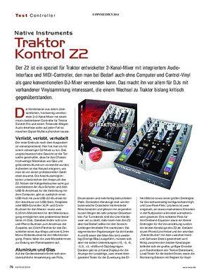 KEYS Native Instruments Traktor Kontrol Z2