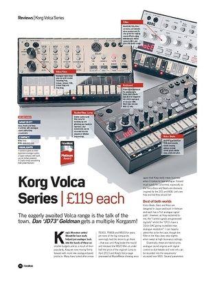 Future Music Korg Volca Series