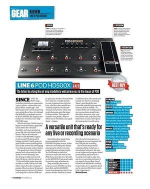 Total Guitar Line 6 POD HD500X