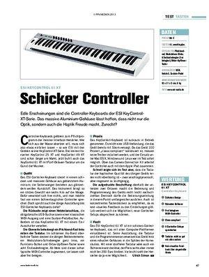 Tastenwelt Test: ESI KeyControl 61 XT - Schicker Controller