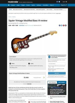 MusicRadar.com Squier Vintage Modified Bass VI