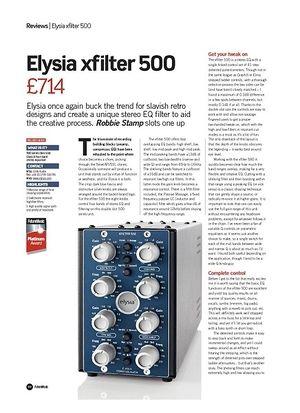 Future Music Elysia xfilter 500
