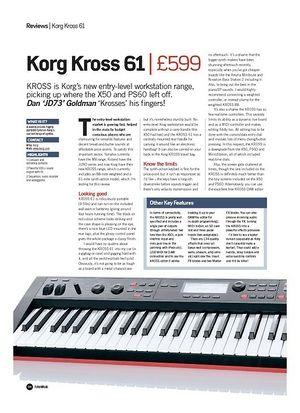Future Music Korg Kross 61