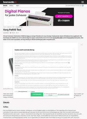 Bonedo.de Korg Pa900 Test