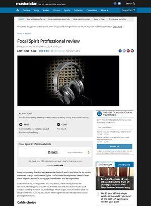 MusicRadar.com Focal Spirit Professional