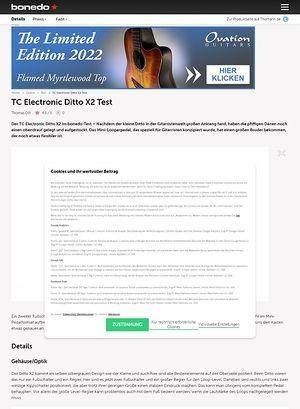 Bonedo.de TC Electronic Ditto X2 Test