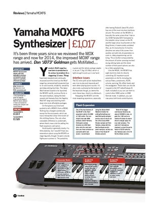 Future Music Yamaha MOXF6