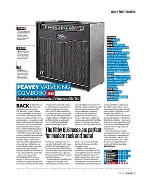 Total Guitar Peavey Valveking Combo 50