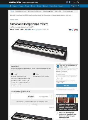 MusicRadar.com Yamaha CP4 Stage Piano