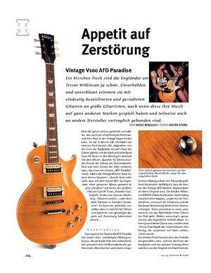 Gitarre & Bass Vintage V100 AFD Paradise, E-Gitarre