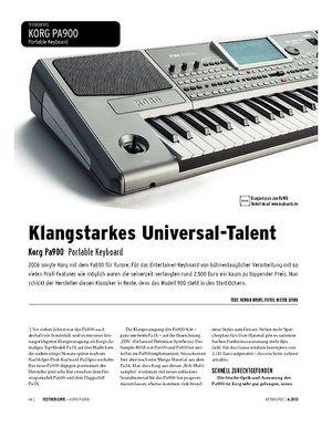 Keyboards Korg Pa900 - Arranger Workstation