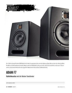 Sound & Recording ADAM F7 - Studiomonitor