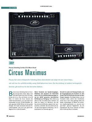 Soundcheck Peavey Valveking Combo 20 & Micro Head