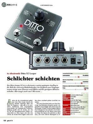 Guitar tc electronic Ditto X2 Looper