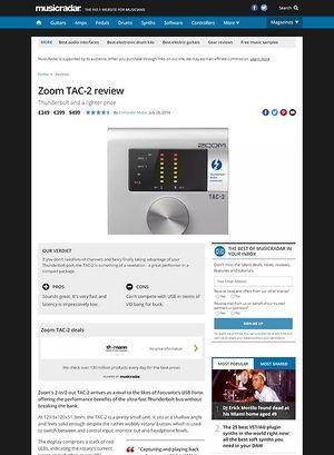 MusicRadar.com Zoom TAC-2