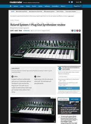 MusicRadar.com Roland System-1