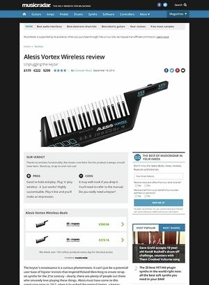 MusicRadar.com Alesis Vortex Wireless