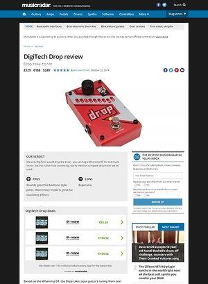 MusicRadar.com Digitech Drop