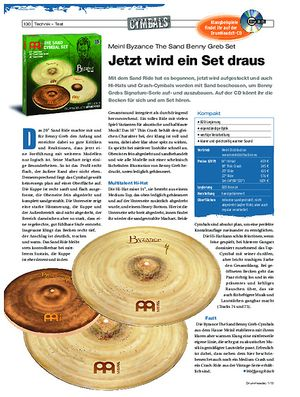 Drumheads Meinl Byzance The Sand Benny Greb Set