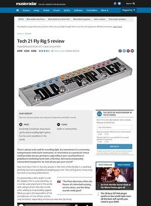 MusicRadar.com Tech21 Fly Rig5