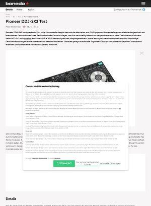 Bonedo.de Pioneer DDJ SX2
