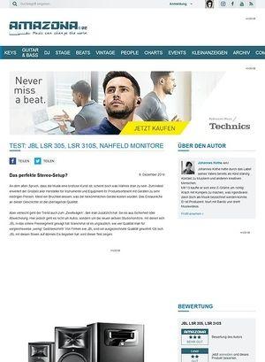 Amazona.de Test: JBL LSR 305, LSR 310S, Nahfeld Monitore