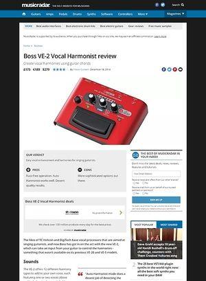 MusicRadar.com Boss VE-2