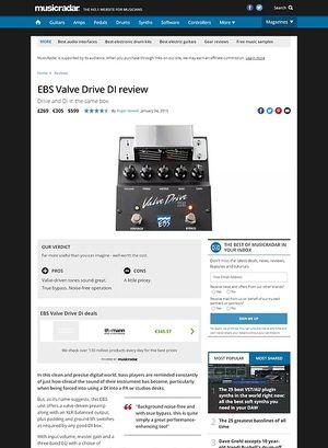 MusicRadar.com EBS Valve Drive DI