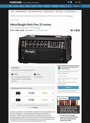 MusicRadar.com MESA/Boogie Mark Five: 25