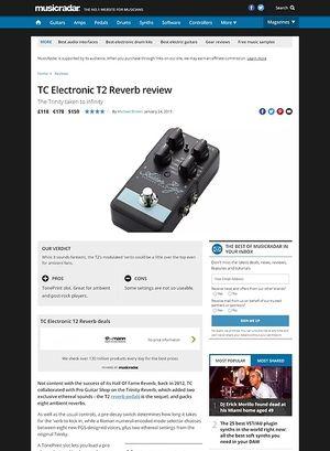 MusicRadar.com TC Electronic T2