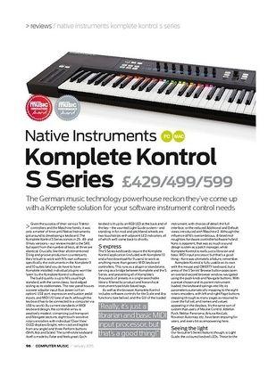 Computer Music Native Instruments Komplete Kontrol S Series