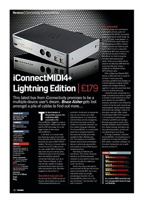 Future Music iConnectMIDI4+ Lightning Edition