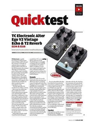 Guitarist TC Electronic T2 Reverb & Alter Ego V2