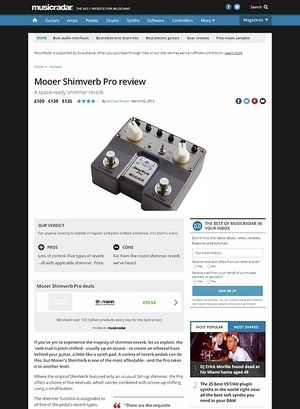 MusicRadar.com Mooer Shimverb Pro