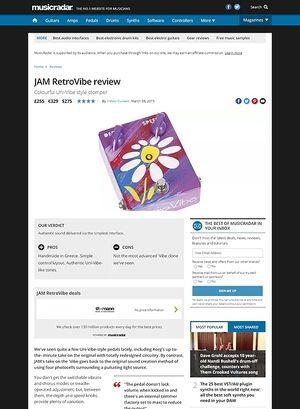 MusicRadar.com JAM RetroVibe
