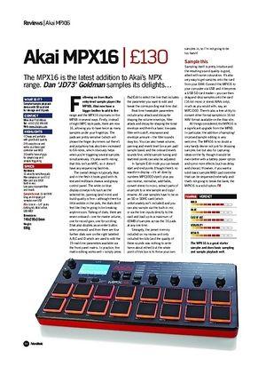Future Music Akai MPX16