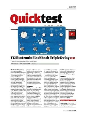 Guitarist TC Electronic Flashback Triple Delay