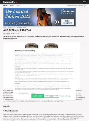 Bonedo.de AKG P220 und P420