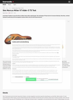 Bonedo.de Sire Marcus Miller V7 Alder-5
