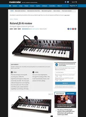 MusicRadar.com Roland JD-Xi