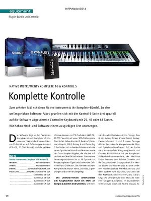 Recording Magazin Native Instruments Komplete 10 & Kontrol S