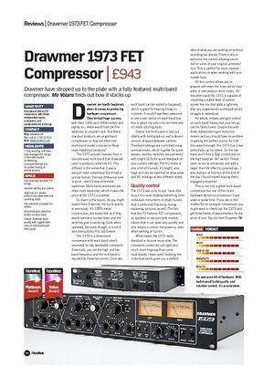 Future Music Drawmer 1973 FET Compressor