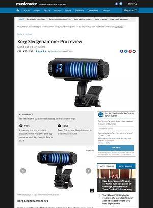 MusicRadar.com Korg Sledgehammer Pro